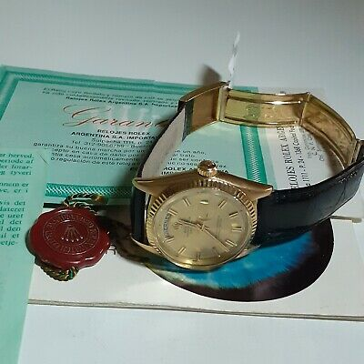 $ CDN12644.34 • Buy W/ Service Papers Rolex Day-Date President 18K Yellow Gold 36 Mm Watch 1803 Box