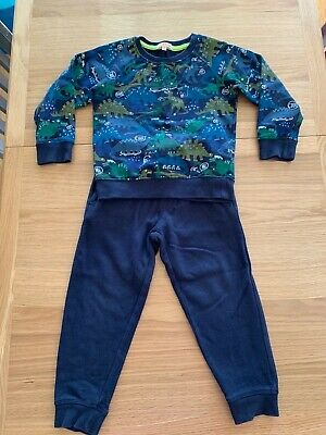 Bluezoo 3-4 Years Dinosaur Print, Blue Tracksuit • 4.50£