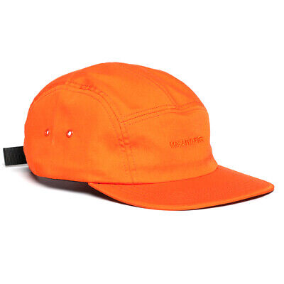 Norse Projects Embroidered Logo 5-panel Strapback Cap - Orange - 6-panel Hat • 29.99£