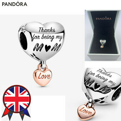 ALE S925 Genuine Silver Pandora Love You Mum Heart Charm With Gift Box 788830C00 • 12.99£