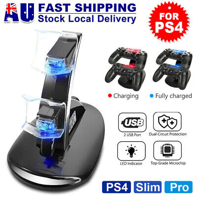 AU17.68 • Buy For Playstation 4 PS4 Controller Charger Dock Dual Stand Charging Station Pad AU
