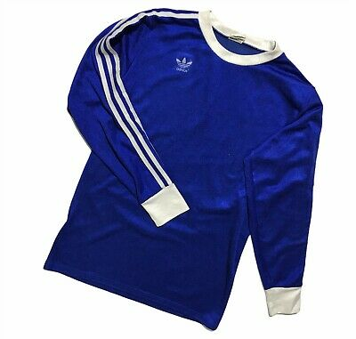 Men`s Vintage RARE Adidas T Shirt Long Sleeve Made In West Germany Size M • 47.03£