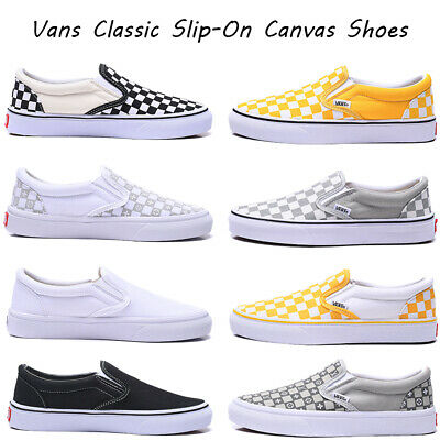 £42.99 • Buy Vans Classic Slip On Men's Women's Casual Canvas Shoes Checkerboard Print Shoes