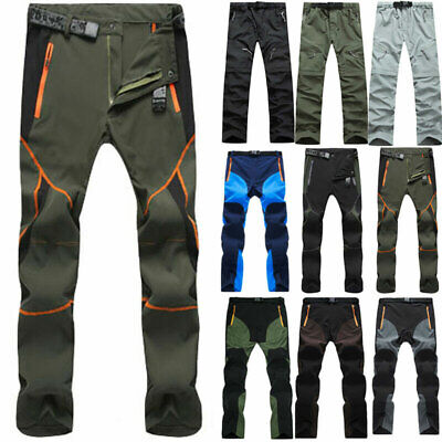 £19.09 • Buy Mens Outdoor Soft Shell Trousers Tactical Hiking Trekking Windproof Work Pants