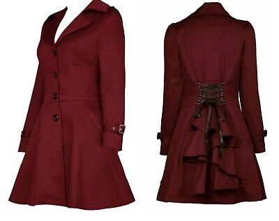 £49.99 • Buy Plus Size  20 22 24 Burgundy Red Victorian Riding Jacket Coat Gothic Steampunk