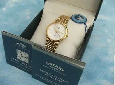 Rotary Gents Alarm Watch Box And Paper Work Excellent Condition 1990s • 10£