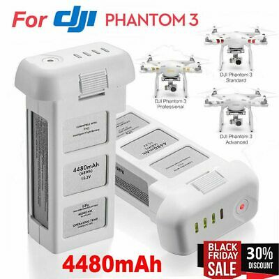 AU114.06 • Buy Drone Battery For DJI Phantom 3 Professional/3/Standard/Advanced 15.2V 4480mAh