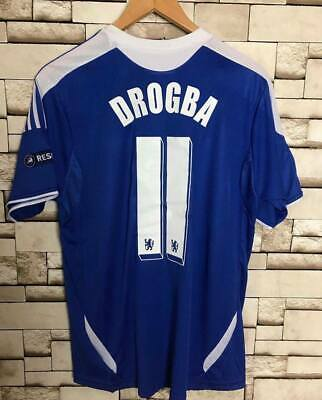 Chelsea 2012 Drogba Champions League Final Retro Soccer Shirt Football Jersey • 32.20£