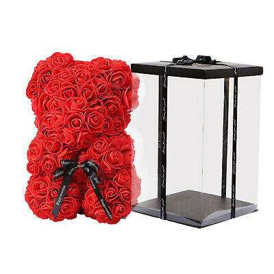AU36.99 • Buy Artificial Flower Rose Bear Home Decors Birthday Valentine's Day Gift For Her