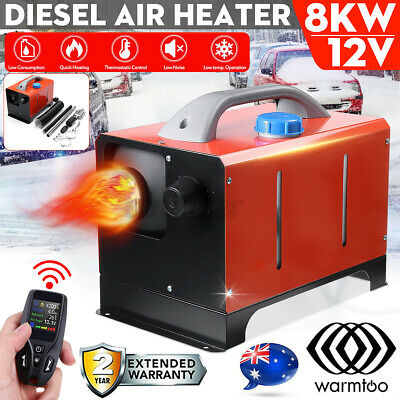 AU179.99 • Buy WARMTOO All In One 12V 8KW Diesel Air Heater Silencer Thermostat Caravan Boat
