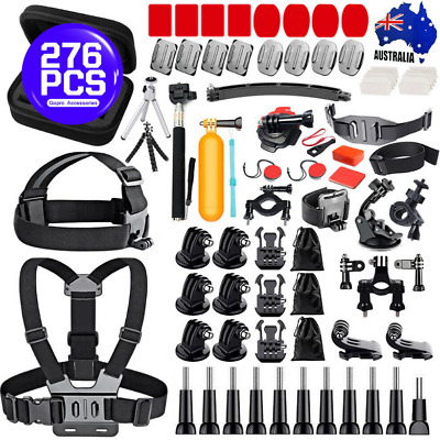 AU39.99 • Buy Go Pro Accessories Set Kit For Gopro Hero 9 8 6 5 4 Monopod Head Chest Strap AU