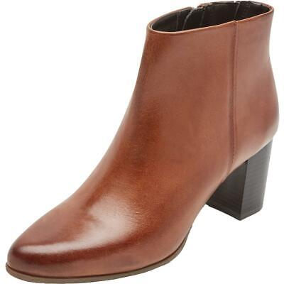 Rockport Womens Camdyn Brown Leather Booties Shoes 8 Wide (C,D,W)  3789 • 19.54£