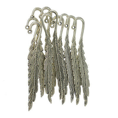 £3.35 • Buy 10 Gorgeous Feather Metal Clip Bookmark Book Marks Magazine Stationery Gifts