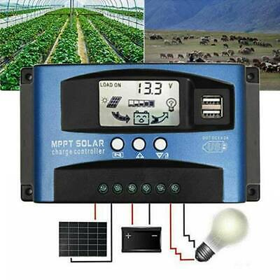 100A 12V 24V LCD MPPT Solar Panel Charge Regulator Battery Controller Dual USB • 20.81£
