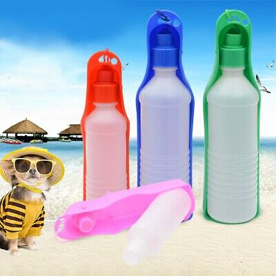 New PET TRAVEL WATER BOTTLE Portable Fordable Dog Cat Drink Feeding Bowl 250ml • 3.99£