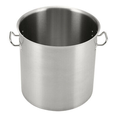 £29.95 • Buy Large Deep Boiling Stew Soup Cooking Stock Pot Catering Pan Stainless Steel Lid