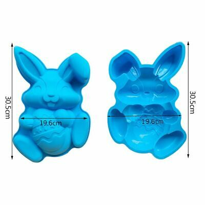 DIY Easter Bunny Silicone Mold Chocolate Fondant Cakes Jelly Candy Making Kit • 11.34£