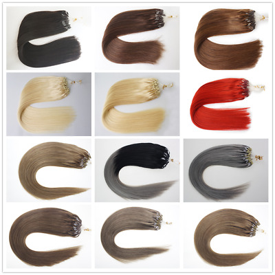 £36 • Buy 14 -24  1G Micro Loop Ombre Russian Human Hair Nano Ring Beads Remy Extensions