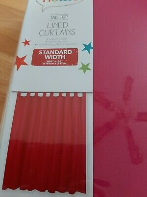 George Home Pink Curtains Tab Top Lined Curtains Width 66length 54 New In Pkt  • 7£