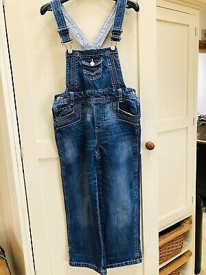 Girls Mothercare Denim Dungarees Age 7-8 Years • 3£