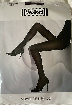 Wolford  Velvet De Luxe 66 Purple Tights Size M • 6.30£