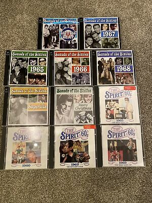 Sounds / Spirit Of The Sixties 60's Cd Job Lot Bundle Cd's Time Life 11 Discs • 4.99£
