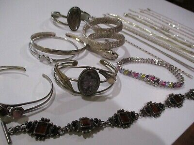 $ CDN15.58 • Buy LARGE COLLECTION Snake STERLING SILVER CUFF BRACELET ROPE CHAIN 925 LOT JEWELRY