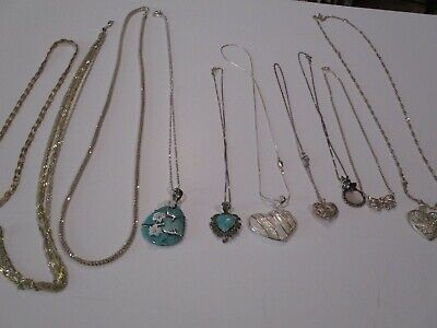 $ CDN15.58 • Buy Large Collection Sterling Silver Necklace & Pendants Rope Chain 925 Lot Jewelry