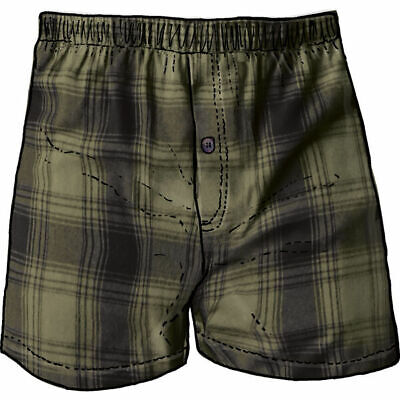 $28.04 • Buy 1 Duluth Trading Co Free Swingin' Flannel Boxers Olive Drab Plaid 94230
