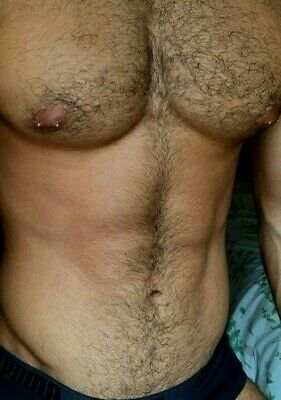 $ CDN4.68 • Buy Shirtless Male Beefy Hairy Chest Abs Pierced Nipples Hunk Man PHOTO 4X6 G1976