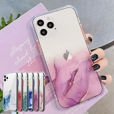 AU9.96 • Buy For IPhone 12 Pro Max 11 XS XR 8 7 Plus Case Marble Bling Clear Shockproof Cover