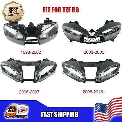 $135 • Buy NT Front Motorcycle Headlight Headlamp Fit For Yamaha 1998-2016 YZF R6 A019