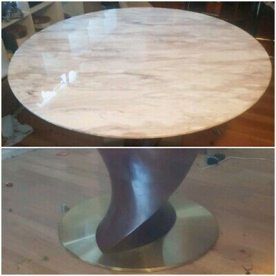 AU1125 • Buy Round Marble Dining Table 1550 Mm