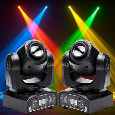 2PCS 30W Spot GOBO LED RGB Moving Head Stage Light DMX512 Club Party Disco Light • 140.89£