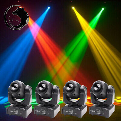4PCS 30W GOBO Stage Lighting RGBW LED Moving Head DMX Bar Disco Party Show Light • 282.89£