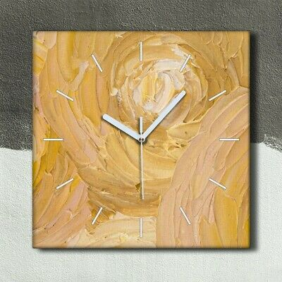£29.95 • Buy Silent Clock Canvas 30x30 Painting Abstract Sun Circles Picture Wall Art Decor