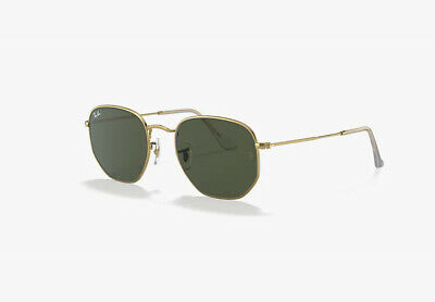 AU110 • Buy Ray Ban Hexagonal RB3548N 001 51mm Gold Frame Green G-15 Lens Sunglasses RayBan