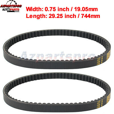 $ CDN21.21 • Buy 2pcs Go Kart Drive Belt For Yerf-dog Go Karts Go Cart # BT-002 Q43103W Q430203W