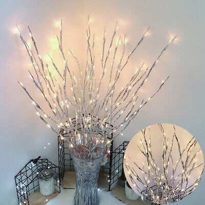LED Branch Twig Fairy Lights Tree Branches Party Home Decor Waterproof 77cm • 8.99£