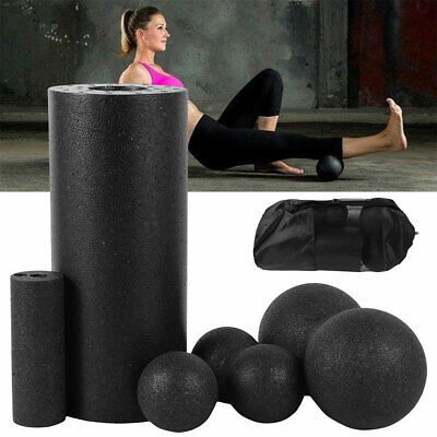 AU21.84 • Buy Home Yoga Pilates Fitness Foam Roller Massage Column Balancing Exercise Sport 🔥