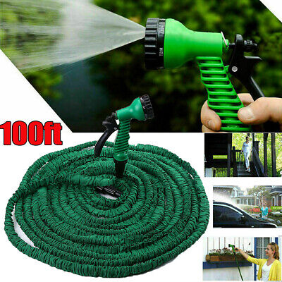 100FT Heavy Duty Expandable Flexible Garden Water Hose Pipe Spray Gun With Nozzl • 3.99£