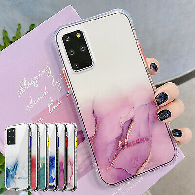 AU9.96 • Buy For Samsung S20 FE 5G Note 20 Ultra S21 Plus Case Marble Clear Shockproof Cover