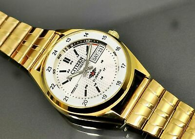 $ CDN34.24 • Buy Citizen Automatic Men's Gold Plated Day Date Vintage Japan Made Watch Run Order