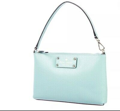 AU150 • Buy Gorgeous Kate Spade- New York Mini Blue Bag In Leather With Logo Lining.