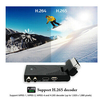 FULL HD Recorder TV Set Top Box HDMI MPEG H.265 Scart Digital Freeview Receiver • 19.85£