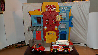 Fisher Price Imaginext Rescue City Center Fire Station Playset • 12.50£