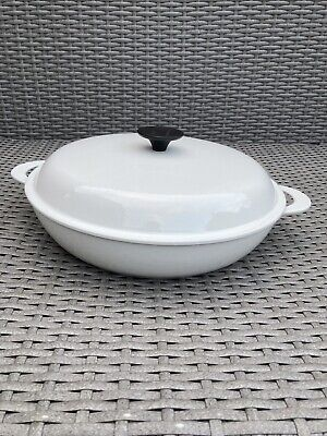 Le Creuset Cast Iron Large Shallow Casserole White (30) • 37.20£