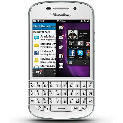 $ CDN187.46 • Buy NEW BlackBerry Q10 - White (Unlocked) 4G LTE GSM WiFi Qwerty Touch Smartphone