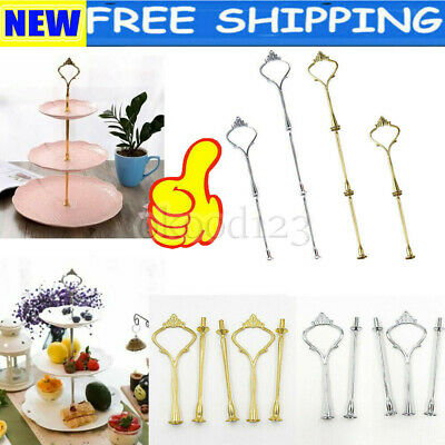 2/3Tier Cake Plate Stand Cupcake Fittings Kit Parts Wedding Party Use Accessory • 1.43£