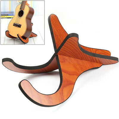 AU13.20 • Buy Ukulele Stand Wooden Guitar Portable Electric Acoustic Guitar Bracket Foldable